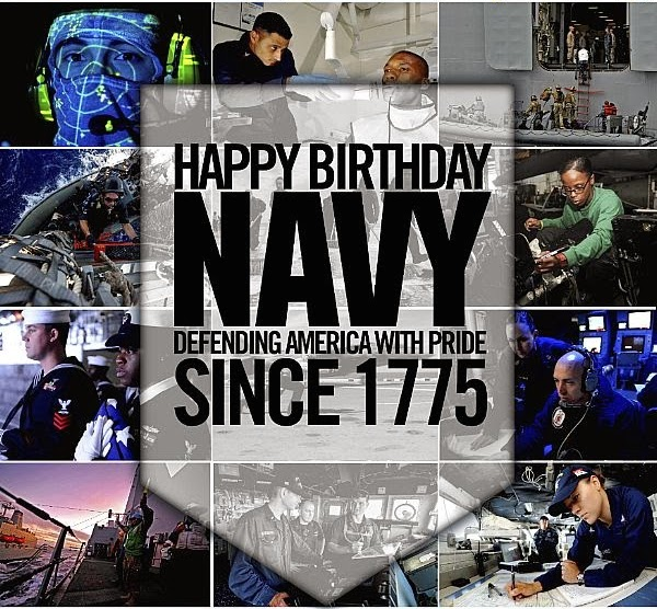 Navy Birthday Poster